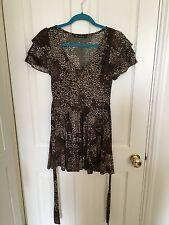 Glamorous Animal Print Mini Dress, Size 10