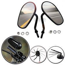 Thread Rear View Mirrors for Harley Sporster XL883 XL1200 Fatboy Dyna SOFTAIL