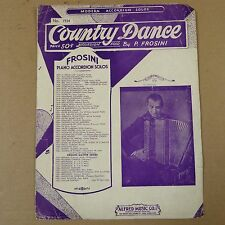 accordion solo  COUNTRY DANCE, P. Frosini, 1942