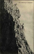 Pfriemeswand Tirol Postkarte 1911 gelaufen das schlimmste Gratstück Bergsteiger