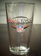 COORS LIGHT NFL ONE PINT BEER GLASS FOOTBALL