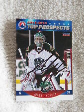 Minnesota Wild Matt Hackett Signed 11/12 AHL Top Pros. Houston AerosCard Auto
