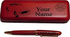Volvo PV544 Sedan Rosewood Pen & Case Engraved