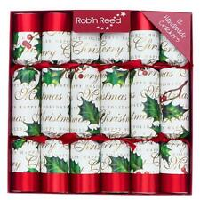 Robin Reed Holiday Crackers - Bows & Berries, Set of 12 (528)