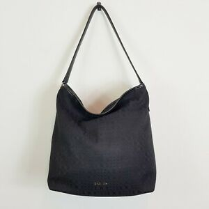 [ OROTON ] Womens Black Jacquard Hobo Bag / Handbag