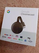 Google Chromecast charcoal 3rd Generation Media Streamer Charcoal NEW 1080p HD.
