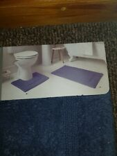 Brand new 2 Piece Supersoft Bathroom mat Set 100% Cotton 50x80 & 40x50