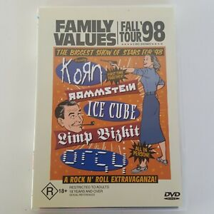 FAMILY VALUES Fall Tour 98 DVD Live Korn Rammstein Ice Cube Limp Bizkit