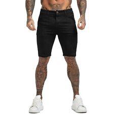 GINGTTO Men Chino Shorts Cotton Black Casual Summer  Stretch Slim Fit Half Pant