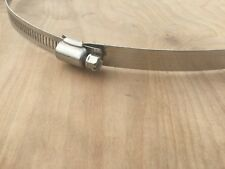 """Set of 2, Large Size 10"""" Worm Gear Stainless Steel Hose/Duct Clamps"""