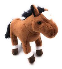 Plüschtier Kuscheltier Stoff Tier Pferd braun stehend Comtois 26 cm