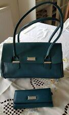 Fiorelli Verde Azulado Para Señoras Hombro Bolso de Mano & Billetera Cartera conjunto que empareja