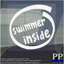 1 x Nuotatore dentro-Finestra, Auto, Furgone, STICKER, SEGNO, veicolo, Adesivo, Sport, esercizio