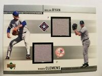 2001 UD Nolan Ryan & Roger Clemens Game Used Jersey #CJ-RC  D226