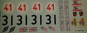 Repro 1/24 K&B Porsche 906/916 ( 904) Decal Set