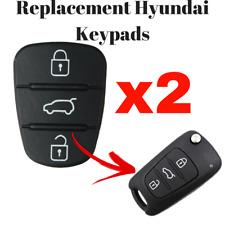Hyundai 3 Button Repair Pad i10 i20 i30 Accent Elantra Replacement Key Pad x 2