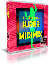 SUPER MIDIMIX. 50 Midi Files MIX. Pendrive USB. Escucha/Listen Demos. Midis