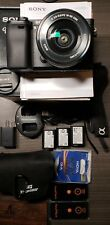 Sony a6300 camera with 16 - 50mm lens & accessories