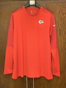Nike NFL On-Field Kansas City Cheifs Long Sleeve Womens Size 2XL CJ9833-657 New