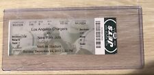 RARE HTF 2017 New York Jets Los Angeles Chargers NFL Ticket Stub K. Allen INT
