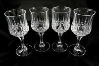 4 heavy vintage Italian Lead Crystal wine glasses sherry port