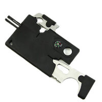 10 in 1 Multi Purpose Survival Knife Pocket Credit Card  Outdoor Camping Tools