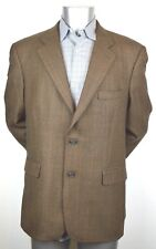 Men's 346 BROOKS BROTHERS Blazer Brown checks 43R Season Fall 2004 100% Wool