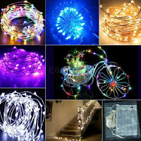 10M 100LED Silver Copper Wire Fairy String Party Xmas Light Battery Powered