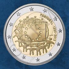 Portugal - 30 Jahre EU Flagge - 2 Euro 2015 unc.