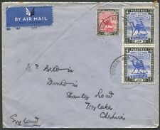 Sudan - Nov.1942 airmail cover from Khartoum to England; rated 8P,10m.