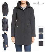 $200 Cole Haan Back Bow Packable Hooded Women's Raincoat