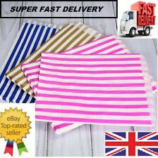 More details for candy stripe paper bags gift shop party buffet wedding cake sweet treat pick&mix