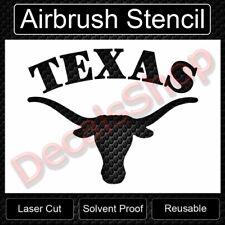 "Texas Long Horns Steer SprayPaint Airbrush Stencil Template 11""x8.5"" FreeShiping"