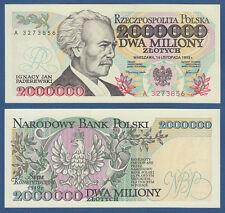 POLEN / POLAND 2.000.000 Zlotych 1993 UNC  P.163