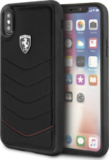 CG MOBILE IPhone X/XS FERRARI HERITAGE QUILTED Black Leather Hard Case Cover