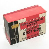 Cecil E Watts Vintage Transcription Type Dust Bug Record Cleaner Box of 10 Heads