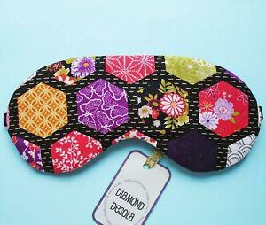 Eye Sleep Mask Japanese Style Soft Comfy Cotton Blackout Sleeping Gift Relax UK