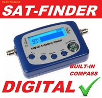 DIGITAL SATELLITE SIGNAL FINDER METER COMPASS+BUZZER FTA DISH NETWORK DIRECTV