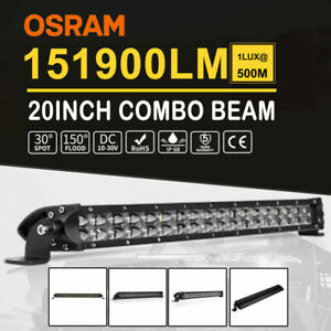 "Autofeel 22"" inch Dual-row LED Light Bar Fog Lamp Offroad 4WD Truck Fog Boat"