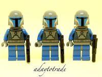 LEGO Mini Figure Star Wars 3 x Mandalorian Warriors Like Jango Fett SW296 RBB