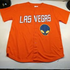 NEW LAS VEGAS LV 51s 51's MINOR LEAGUE BASEBALL JERSEY Sz Mens XL Orange