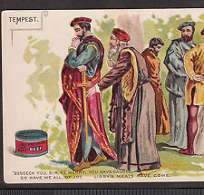 1800's Shakespeare Tempest Theater Chicago Libby Meat Tin Advertising Trade Card