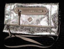 Simply Vera Wang Faux Snakeskin Fold Over Clutch Shoulder Bag Purse - Multicolor