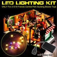 USB LED Light Lighting Kit ONLY For LEGO 21319 Friends Central Perk Bricks  b