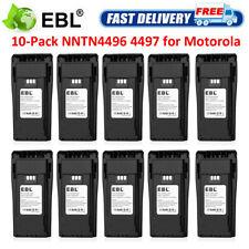 10pack 2500mAh 7.4V Nntn 4496 4497 Li-ion Battery for Motorola Pr400 Cp150 Ep450