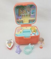 vintage polly pocket Lulu and Her Speed Boat Ring Case 1991 100%Complete Rare