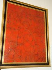 ECOLE MODERNE, encadrée, acrylique sur toile, VUE 90 x 70 cm