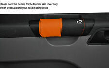 BLACK & ORANGE 2X DOOR HANDLE SKIN COVER FITS VW T5 TRANSPORTER CARAVELLE