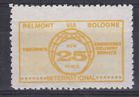 1971 STRIKE MAIL OSBORNE BELMONT VIA BOLOGNE 25p YELLOW ON WHITE MNH