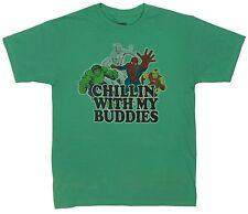 Marvel Comics Mad Engine Men Green Retro Heroes Tee Size L 100% Cotton T-Shirt